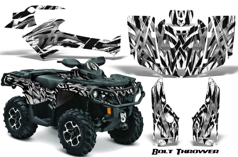 Can-Am-Outlander-2013-2014-XMR-MAX-G2-XT-DPS-CreatorX-Graphics-Kit-Bolt-Thrower-White