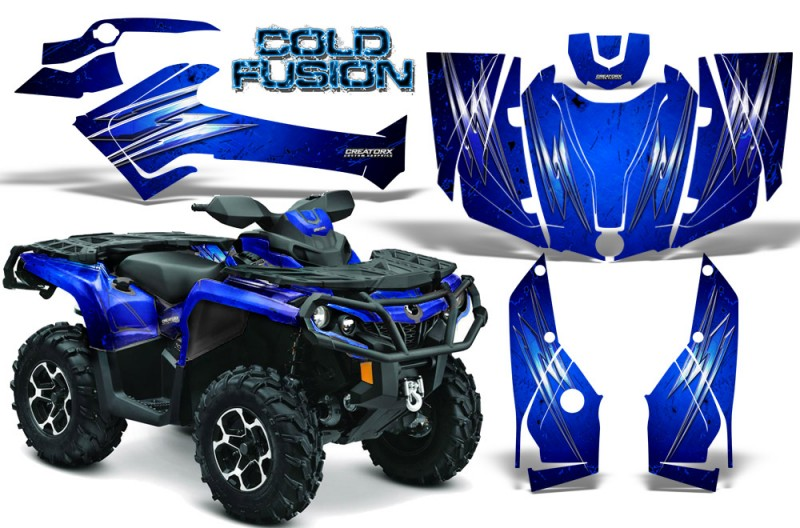 Can-Am-Outlander-2013-2014-XMR-MAX-G2-XT-DPS-CreatorX-Graphics-Kit-Cold-Fusion-Blue