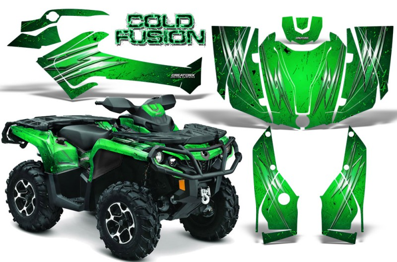 Can-Am-Outlander-2013-2014-XMR-MAX-G2-XT-DPS-CreatorX-Graphics-Kit-Cold-Fusion-Green