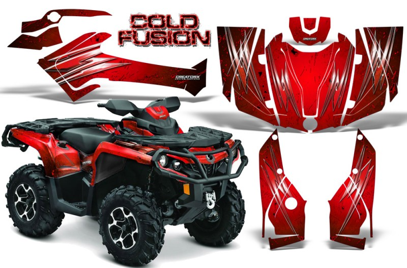 Can-Am-Outlander-2013-2014-XMR-MAX-G2-XT-DPS-CreatorX-Graphics-Kit-Cold-Fusion-Red