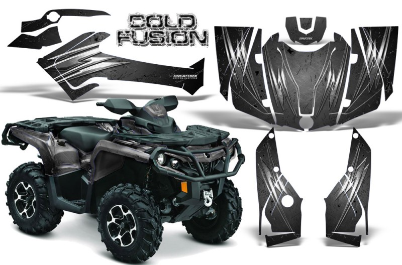 Can-Am-Outlander-2013-2014-XMR-MAX-G2-XT-DPS-CreatorX-Graphics-Kit-Cold-Fusion-Silver