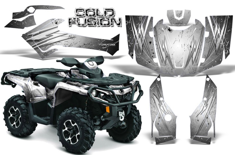 Can-Am-Outlander-2013-2014-XMR-MAX-G2-XT-DPS-CreatorX-Graphics-Kit-Cold-Fusion-White