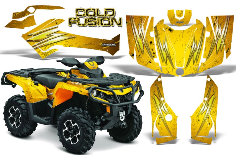 Can-Am-Outlander-2013-2014-XMR-MAX-G2-XT-DPS-CreatorX-Graphics-Kit-Cold-Fusion-Yellow