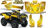 Can Am Outlander 2013 2014 XMR MAX G2 XT DPS CreatorX Graphics Kit Cold Fusion Yellow BB1 150x90 - Can-Am Outlander 500-650-800-1000 XMR-MAX XT XT-P DPS SST G2 2013-2021 Graphics