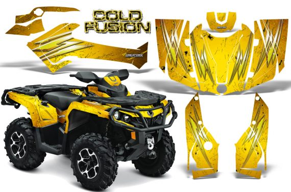 Can Am Outlander 2013 2014 XMR MAX G2 XT DPS CreatorX Graphics Kit Cold Fusion Yellow BB1 570x376 - Can-Am Outlander 500-650-800-1000 XMR-MAX XT XT-P DPS SST G2 2013-2021 Graphics