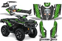 Can-Am-Outlander-2013-2014-XMR-MAX-G2-XT-DPS-CreatorX-Graphics-Kit-Danger-Zone-Green