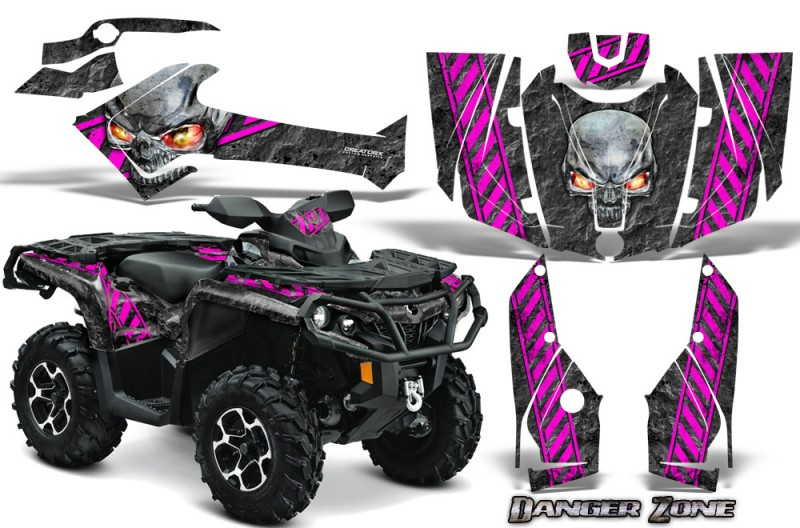 Can-Am-Outlander-2013-2014-XMR-MAX-G2-XT-DPS-CreatorX-Graphics-Kit-Danger-Zone-Pink