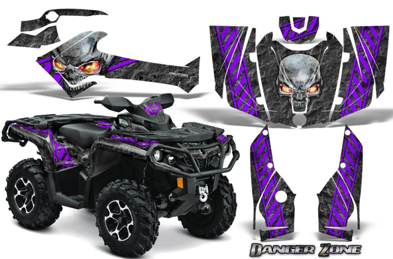 Can-Am-Outlander-2013-2014-XMR-MAX-G2-XT-DPS-CreatorX-Graphics-Kit-Danger-Zone-Purple
