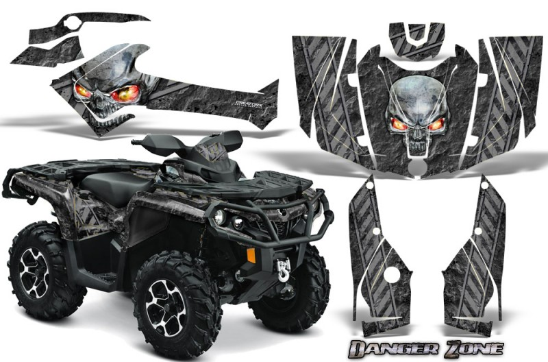 Can-Am-Outlander-2013-2014-XMR-MAX-G2-XT-DPS-CreatorX-Graphics-Kit-Danger-Zone-Silver