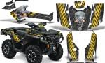 Can Am Outlander 2013 2014 XMR MAX G2 XT DPS CreatorX Graphics Kit Danger Zone Yellow1 150x90 - Can-Am Outlander 500-650-800-1000 XMR-MAX XT XT-P DPS SST G2 2013-2021 Graphics