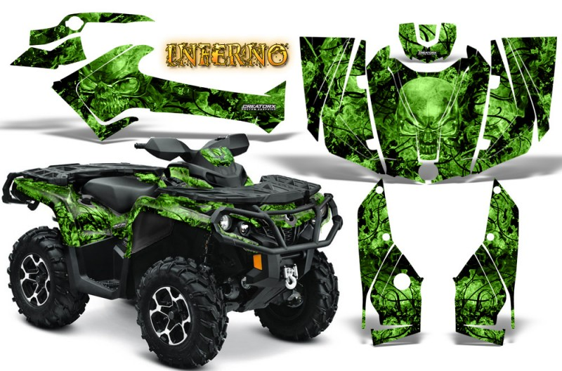 Can-Am-Outlander-2013-2014-XMR-MAX-G2-XT-DPS-CreatorX-Graphics-Kit-Inferno-Green