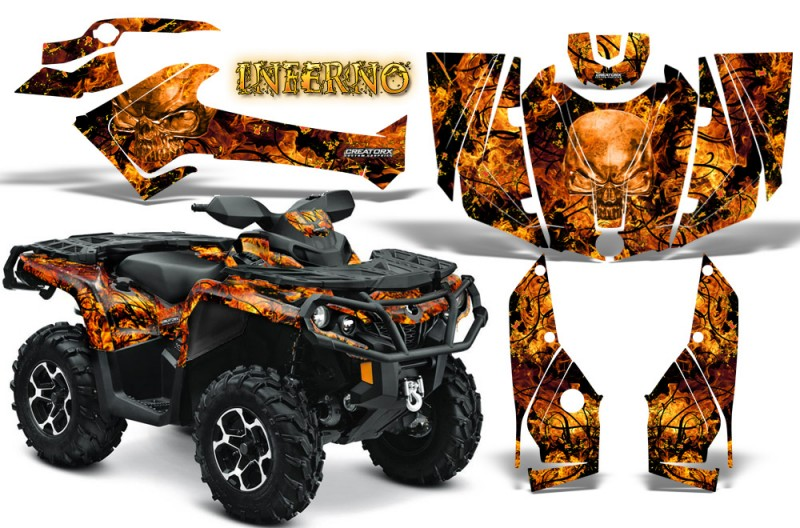 Can-Am-Outlander-2013-2014-XMR-MAX-G2-XT-DPS-CreatorX-Graphics-Kit-Inferno-Orange