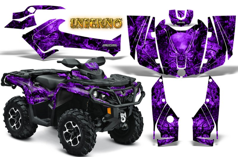Can-Am-Outlander-2013-2014-XMR-MAX-G2-XT-DPS-CreatorX-Graphics-Kit-Inferno-Purple
