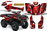 Can-Am-Outlander-2013-2014-XMR-MAX-G2-XT-DPS-CreatorX-Graphics-Kit-Inferno-Red