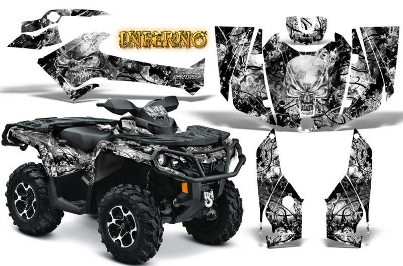 Can-Am-Outlander-2013-2014-XMR-MAX-G2-XT-DPS-CreatorX-Graphics-Kit-Inferno-White