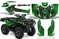 Can-Am-Outlander-2013-2014-XMR-MAX-G2-XT-DPS-CreatorX-Graphics-Kit-SpiderX-Green