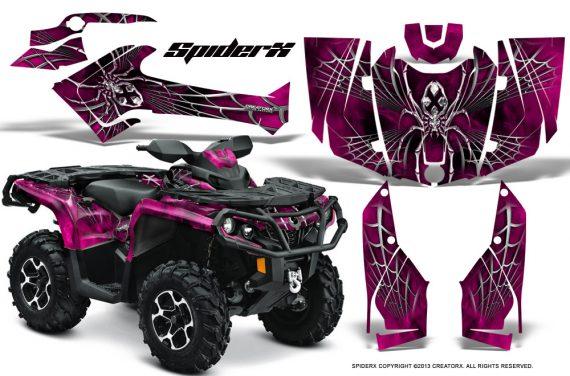Can Am Outlander 2013 2014 XMR MAX G2 XT DPS CreatorX Graphics Kit SpiderX Pink1 570x376 - Can-Am Outlander 500-650-800-1000 XMR-MAX XT XT-P DPS SST G2 2013-2021 Graphics