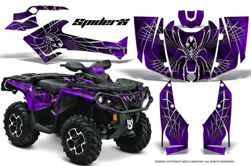 Can-Am-Outlander-2013-2014-XMR-MAX-G2-XT-DPS-CreatorX-Graphics-Kit-SpiderX-Purple
