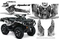 Can-Am-Outlander-2013-2014-XMR-MAX-G2-XT-DPS-CreatorX-Graphics-Kit-SpiderX-White