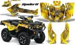 Can Am Outlander 2013 2014 XMR MAX G2 XT DPS CreatorX Graphics Kit SpiderX Yellow BB1 150x90 - Can-Am Outlander 500-650-800-1000 XMR-MAX XT XT-P DPS SST G2 2013-2021 Graphics