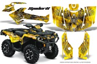 Can-Am-Outlander-2013-2014-XMR-MAX-G2-XT-DPS-CreatorX-Graphics-Kit-SpiderX-Yellow-BB