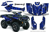 Can-Am-Outlander-2013-2014-XMR-MAX-G2-XT-DPS-CreatorX-Graphics-Kit-TribalZ-Blue