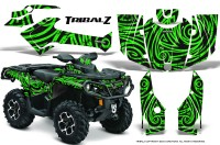 Can-Am-Outlander-2013-2014-XMR-MAX-G2-XT-DPS-CreatorX-Graphics-Kit-TribalZ-Green