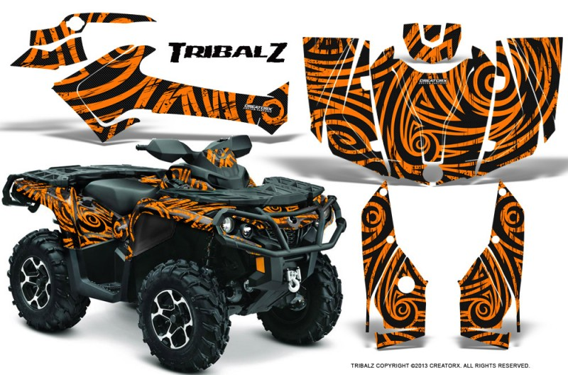 Can-Am-Outlander-2013-2014-XMR-MAX-G2-XT-DPS-CreatorX-Graphics-Kit-TribalZ-Orange