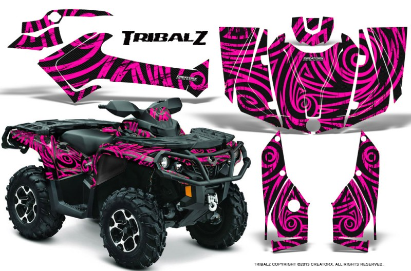 Can-Am-Outlander-2013-2014-XMR-MAX-G2-XT-DPS-CreatorX-Graphics-Kit-TribalZ-Pink