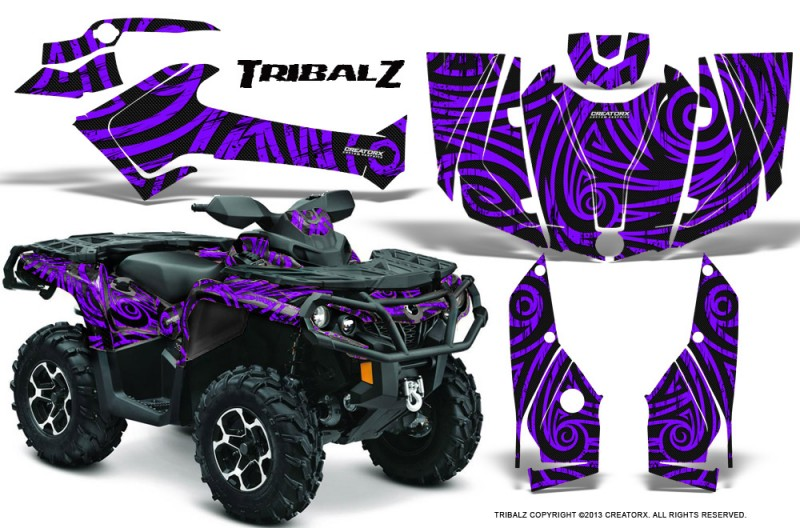 Can-Am-Outlander-2013-2014-XMR-MAX-G2-XT-DPS-CreatorX-Graphics-Kit-TribalZ-Purple