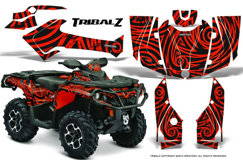 Can-Am-Outlander-2013-2014-XMR-MAX-G2-XT-DPS-CreatorX-Graphics-Kit-TribalZ-Red