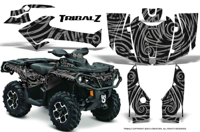Can-Am-Outlander-2013-2014-XMR-MAX-G2-XT-DPS-CreatorX-Graphics-Kit-TribalZ-Silver