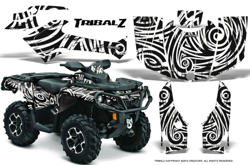 Can-Am-Outlander-2013-2014-XMR-MAX-G2-XT-DPS-CreatorX-Graphics-Kit-TribalZ-White