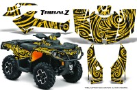 Can-Am-Outlander-2013-2014-XMR-MAX-G2-XT-DPS-CreatorX-Graphics-Kit-TribalZ-Yellow