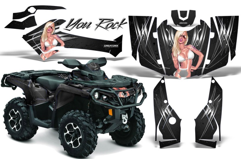 Can-Am-Outlander-2013-2014-XMR-MAX-G2-XT-DPS-CreatorX-Graphics-Kit-You-Rock-Black