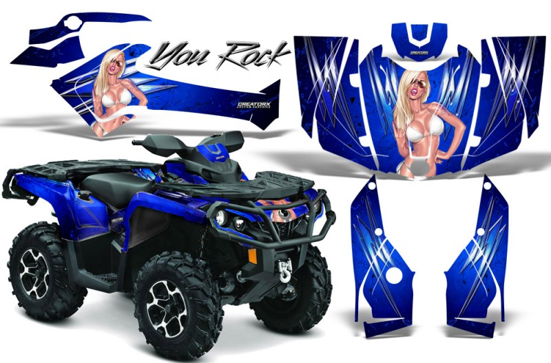 Can-Am-Outlander-2013-2014-XMR-MAX-G2-XT-DPS-CreatorX-Graphics-Kit-You-Rock-Blue