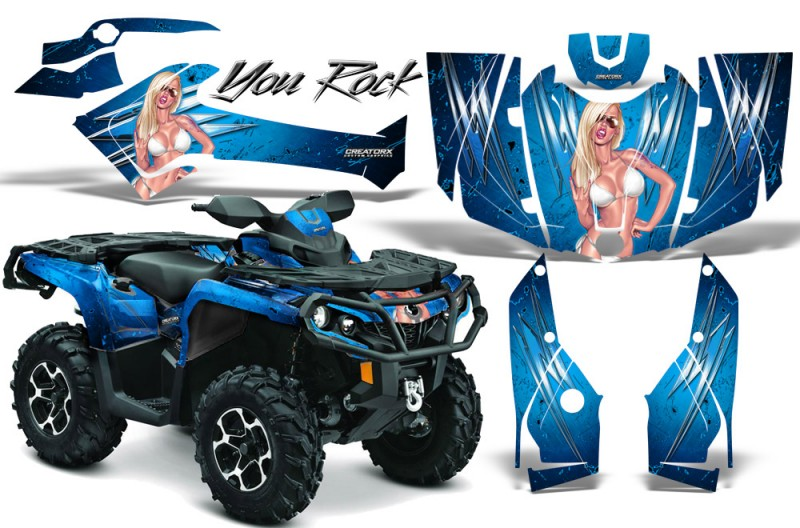 Can-Am-Outlander-2013-2014-XMR-MAX-G2-XT-DPS-CreatorX-Graphics-Kit-You-Rock-BlueIce