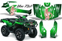 Can-Am-Outlander-2013-2014-XMR-MAX-G2-XT-DPS-CreatorX-Graphics-Kit-You-Rock-Green