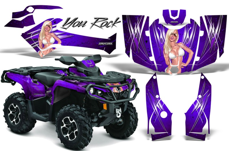 Can-Am-Outlander-2013-2014-XMR-MAX-G2-XT-DPS-CreatorX-Graphics-Kit-You-Rock-Purple