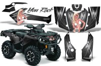 Can-Am-Outlander-2013-2014-XMR-MAX-G2-XT-DPS-CreatorX-Graphics-Kit-You-Rock-Silver