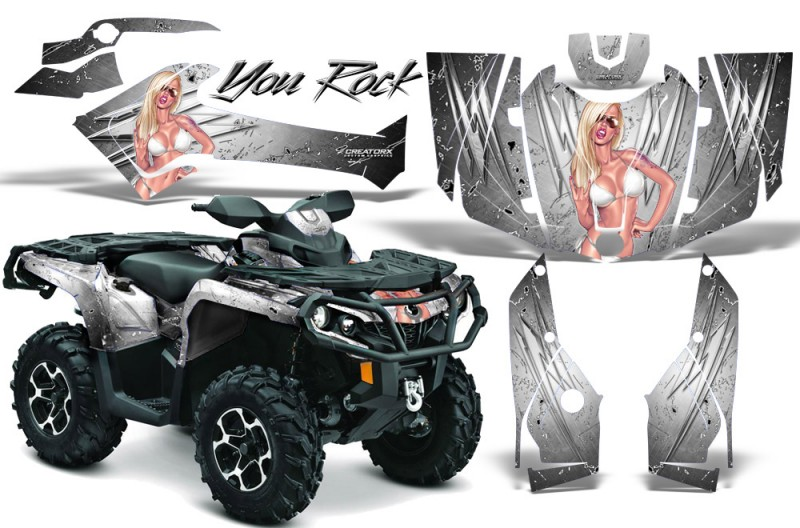 Can-Am-Outlander-2013-2014-XMR-MAX-G2-XT-DPS-CreatorX-Graphics-Kit-You-Rock-White