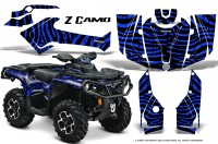 Can-Am-Outlander-2013-2014-XMR-MAX-G2-XT-DPS-CreatorX-Graphics-Kit-ZCamo-Blue