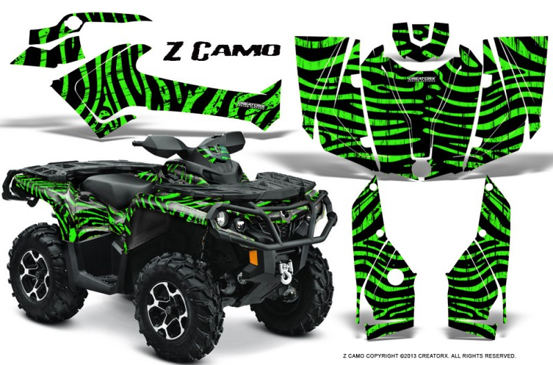 Can-Am-Outlander-2013-2014-XMR-MAX-G2-XT-DPS-CreatorX-Graphics-Kit-ZCamo-Green