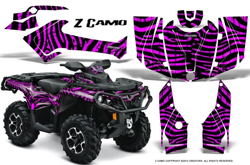 Can-Am-Outlander-2013-2014-XMR-MAX-G2-XT-DPS-CreatorX-Graphics-Kit-ZCamo-Pink