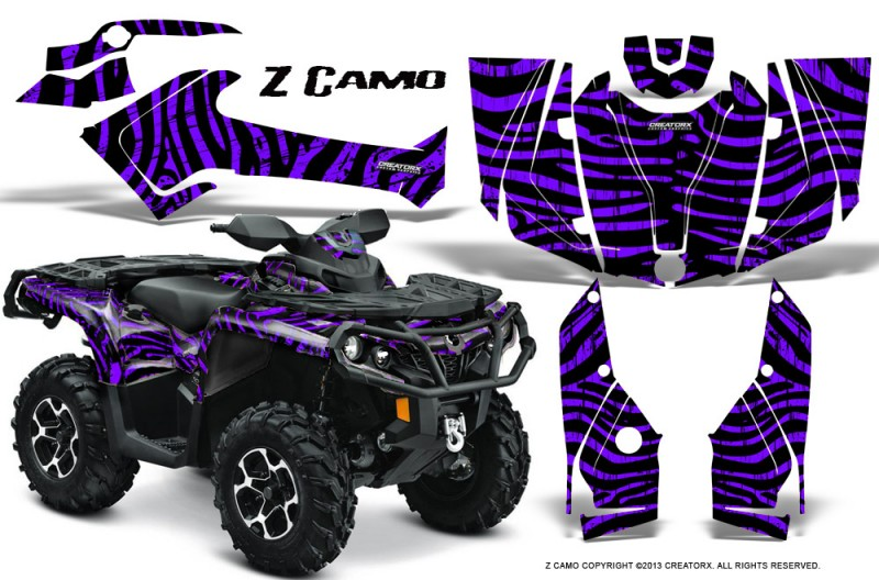 Can-Am-Outlander-2013-2014-XMR-MAX-G2-XT-DPS-CreatorX-Graphics-Kit-ZCamo-Purple