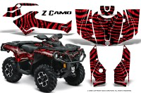 Can-Am-Outlander-2013-2014-XMR-MAX-G2-XT-DPS-CreatorX-Graphics-Kit-ZCamo-Red