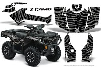 Can-Am-Outlander-2013-2014-XMR-MAX-G2-XT-DPS-CreatorX-Graphics-Kit-ZCamo-Silver