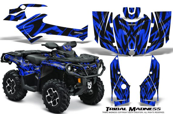 Can-Am-Outlander-2013-2014-XMR-MAX-G2-XT-DPS-Graphics-Kit-Tribal-Madness-Blue