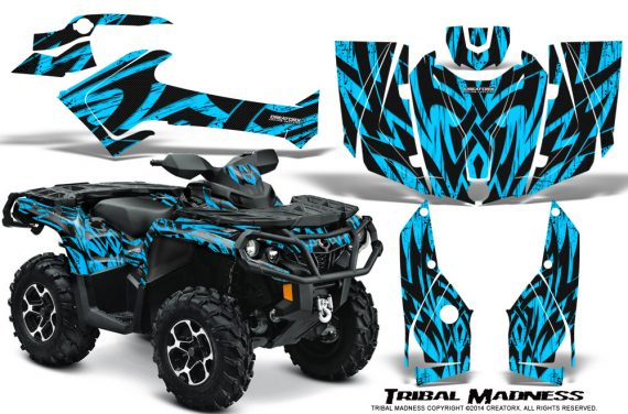 Can-Am-Outlander-2013-2014-XMR-MAX-G2-XT-DPS-Graphics-Kit-Tribal-Madness-BlueIce
