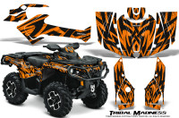 Can-Am-Outlander-2013-2014-XMR-MAX-G2-XT-DPS-Graphics-Kit-Tribal-Madness-Orange